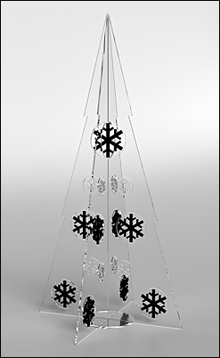 Large Clear Modern Christmas Tree